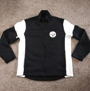 NFL Pittsburgh Steelers Jacket Ribbed Sweater
